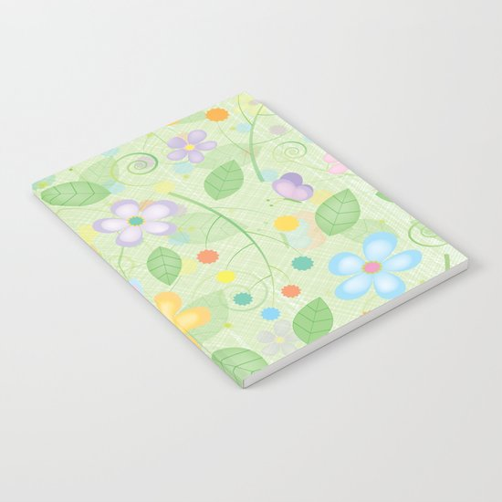 Floral and Butterfly Pattern - Spring Blossom Notebook