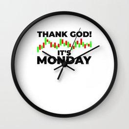 Thank god it's Monday Trading Trader Chart Wall Clock
