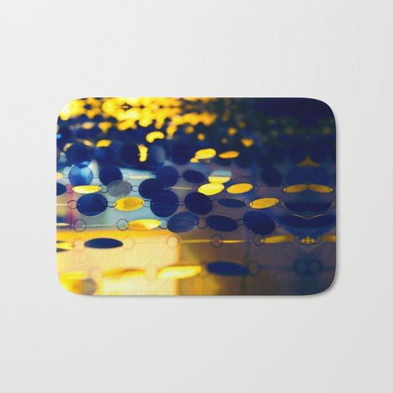 GLAM CIRCLES #Blue #1 Bath Mat