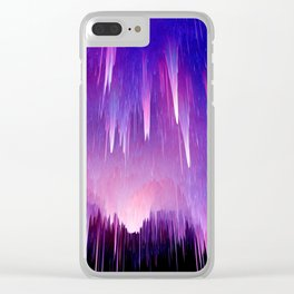 Magenta Reign Clear iPhone Case