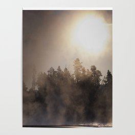 Bright Sun And dark Forest, covered by smokescreen society6 Poster