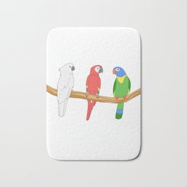 Parrot Gift Product Yes I Do Need All These Pet Parrot Print Bath Mat