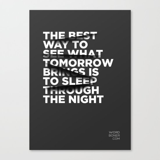 Sleep Through The Night Canvas Print