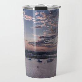 Sunset over Rockport Harbor Travel Mug