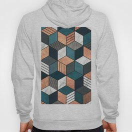 Copper, Marble and Concrete Cubes 2 with Blue Hoody