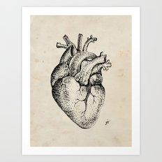 my heart Art Print
