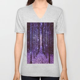 Magical Forest Purple Unisex V-Neck