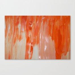 Tangerine Fondue Canvas Print