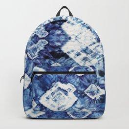 Blue Silk Tie-Dye Backpack