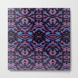 Flocked Arrow Tribe Violet Metal Print