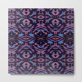 Flocked Arrow Tribe Violet Metal Print