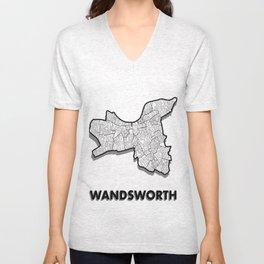 Wandsworth - London Borough - Simple Unisex V-Neck