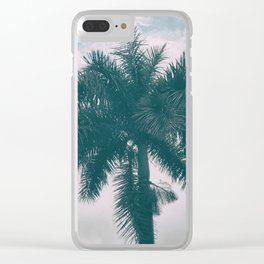 Palm Trees in tropical climate Clear iPhone Case