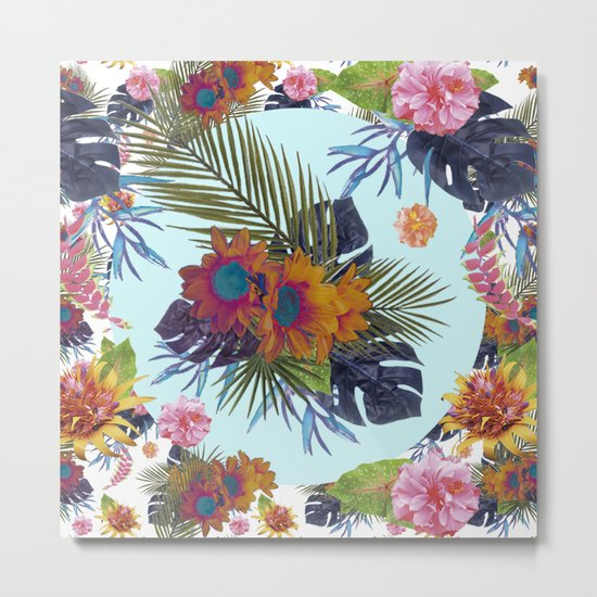 TROPICAL FLORAL Metal Print