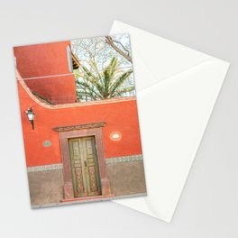 Red and Green | The San Miguel de Allende Mexico door collection | Travel photography print Stationery Cards