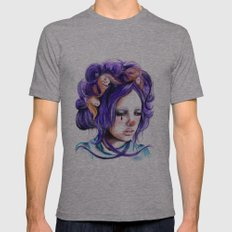 Dolls in her hair, Forest of Dolls Collection Mens Fitted Tee Athletic Grey SMALL