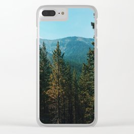let's mountain adventure/ jasper, canada Clear iPhone Case