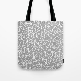 Connectivity - White on Grey Tote Bag
