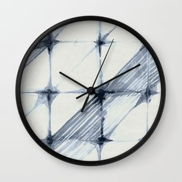 Simply Wabi-sabi in Indigo Blue on Lunar Gray Wall Clock