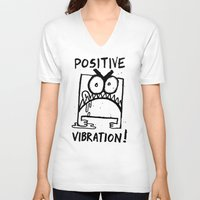 berserk V-neck T-shirts featuring Positive Vibration! by TehStr4ngeOnes