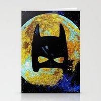 bat Stationery Cards featuring BAT by Saundra Myles