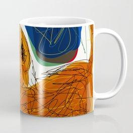 Socca Ginger Cat Art Coffee Mug