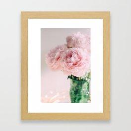Blush Peonies Framed Art Print