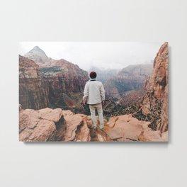 Overlooking Zion Metal Print