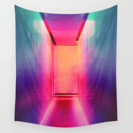 Neon Hallways Wall Tapestry
