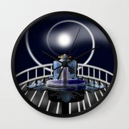 Moon Fountain Wall Clock