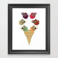 Chocolate Rippleboat Sundae  Framed Art Print