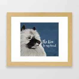 The Kee to my Heart Framed Art Print