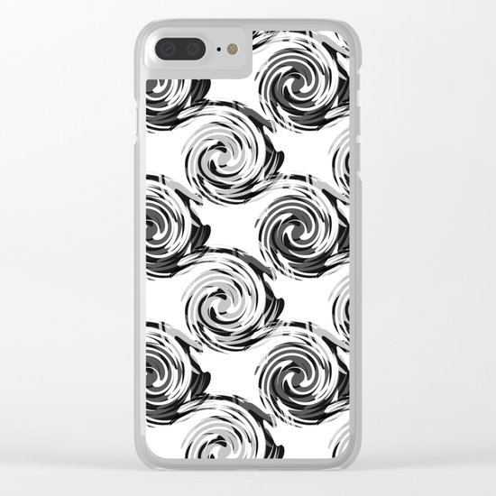 Abstract pattern in black and white tone. Clear iPhone Case