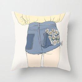 Daisy Shorts Throw Pillow