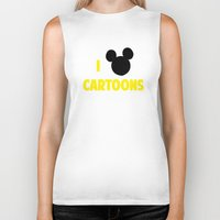 cartoons Biker Tanks featuring I heart Cartoons by ihearteverything