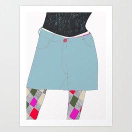Decorated Legs Art Print