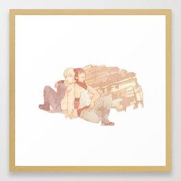 kiribaku au Framed Art Print