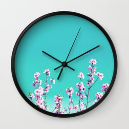 Peach Flowers Wall Clock