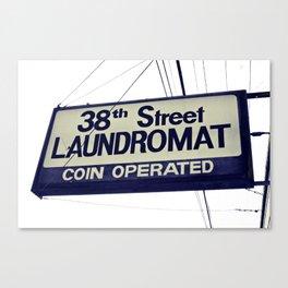 38th Street Laundromat Canvas Print