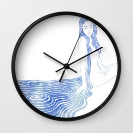 Water Nymph XCV Wall Clock