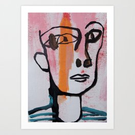 Abstract expressionism portrait /Modern painting / illustration Art Print