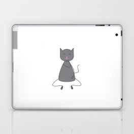 Cute grey colored cat Laptop & iPad Skin