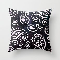 painted paisley Throw Pillow