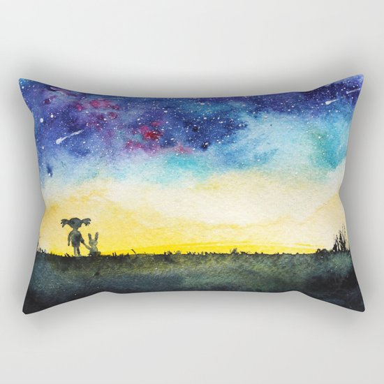 Making wishes on a shooting star Rectangular Pillow
