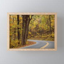 Autumn Road 3 Framed Mini Art Print