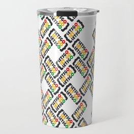 Let go or Let's go (pattern) Travel Mug