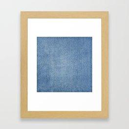 Faded Blue Denim Framed Art Print