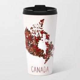 Maple Leafs Map of Canada Travel Mug