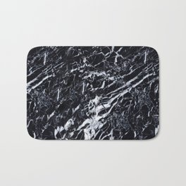 Real Marble Black Bath Mat