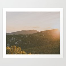 A winter sunset Art Print